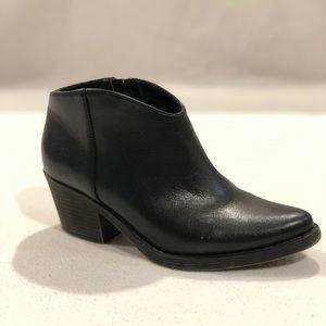 Black Low Top Ankle Booties